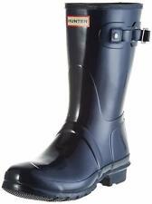 Hunter Original Short Gloss Wellington Ladies Navy Boots 9