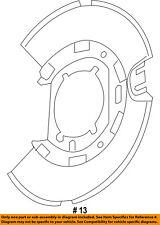 CHRYSLER OEM Rear Brake-Backing Plate Splash Dust Shield 5137619AA