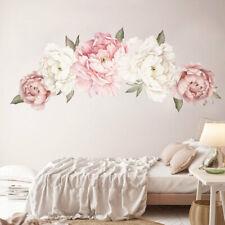 Impermeable Peonía Rosa Rosa Flor Pegatinas De Pared Calcomanía Decoración para el hogar Dormitorio Mural