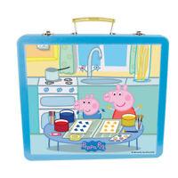 PEPPA PIG Children's Art Tin Case with 60pcs Creative Accessories, Unisex