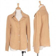 ROMEO GIGLI Stripe woven big collar shirt jacket Size About  M(K-34352)
