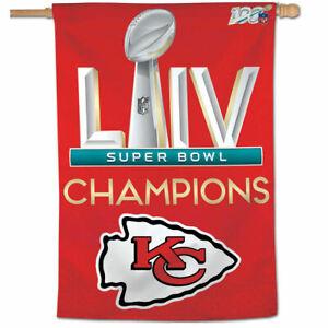 Kansas City Chiefs 2019 2020 Super Bowl LIV Champions House Banner Flag