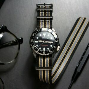 Premium Bond No Time To Die Seatbelt NATO Watch Strap (20mm), UK Supplier