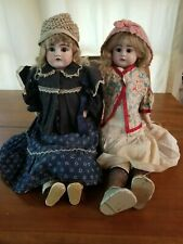 New ListingPair of Antique dolls with original clothes and travel case