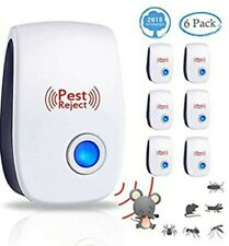 Ultrasonic Pest Repeller Electronic Plug in Pest Control Indoor 6 pack