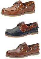 Jim Boomba Premium Leather Boat Shoes,Deck Shoe -Mahogany-Cedar Brown-Navy Blue