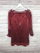 MONSOON Dress - Size UK14 - Burgundy - Silk - NEW - Women's
