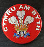 Cymru am Byth - Prince of Wales feathers - Large Button Badge - 58mm diameter