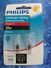 Philips Bc20W/T3/ G4 Base - 10-2-pack Halogen bulbs [total 20]