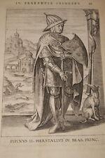 GRAVURE BELGIQUE PIPINUS II HERSTALLUS IV BRABANT VEEN COLLAERT 1623  PRINT R969