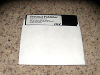 "Personal Publisher Apple//e, //c and //GS 1988 5.25"" floppy disk"