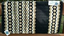"Western Wool Show Saddle Blanket-Custom-34""x38""-Black-Sand-Cream-Taupe"