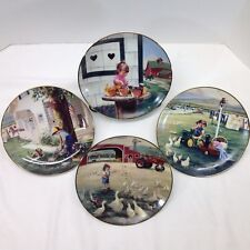 John Deere Collector Plate Tractor Farm Country Set of 4 Vtg Danbury Mint