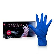 TechMatte Disposable Powder Free Rubber Nitrile Ambidextrous Gloves (L) - 100 PK
