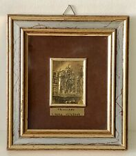 Vintage Sterling Silver St Mary Church Triggiano Italy Miniature Framed Picture