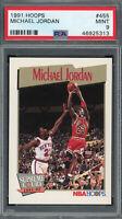 Michael Jordan Chicago Bulls 1991 Hoops Basketball Card #455 Graded PSA 9 MINT