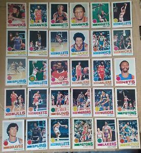 30x Topps 1977-78 NBA basketball cards, w/stars, HOF'ers