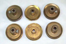 "6 Original A.C. Gilbert Erector Set ""P7"" Brass Wheel Pulley             Lot #105"