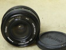 Vivitar manual  Focus Wide Angle 28mm 1:2.8 Lens Pentax PK Mount, Filter + Caps