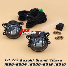 Pair Fog Lights for Suzuki Grand Vitara1996-2004 /2006-2012 /2016+Switch+Harness