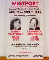 Larry Luckinbill Valentine Ivey, Cheever Evening Poster Signed COA Video Lucille