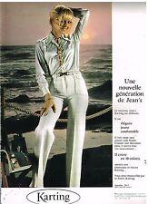 Publicité Advertising 1978 Pret à porter femme les pantalons karting