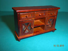 DOLLHOUSE MINI HALF INCH SCALE  DINING ROOM SIDEBOARD IN SPICE