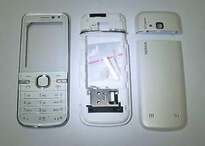 Full white Houing cover fascia facia case for Nokia 6730 faceplate     -0807897