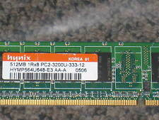 512MB  1RX8  PC2-3200U  DDR2-400 64X8 8CHIPS NON-ECC PC DESKTOP RAM