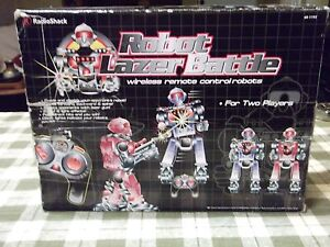 Radio Shack Robot Lazer Battle wireless remote controlled game Cat. No. 60-1192