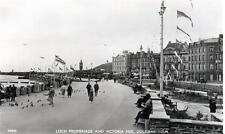 Prom Victoria Pier Douglas IOM  unused RP old postcard Good Condition by Salmon