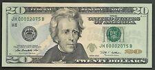$20 2009==NUMBER 2075==FOUR DIGIT SERIAL==JH 00002075 B==GEM CU