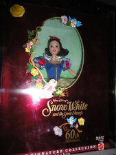 60TH ANNIVERSARY SNOW WHITE BARBIE DOLL NRFB MIB