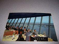 1970s CAFE RESTAURANT at EUROMAST TOWER ROTTERDAM HOLLAND VTG POSTCARD