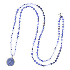 New Round Sakyamuni Buddha Strand Charm Necklace Agate Beaded Pendant Necklaces