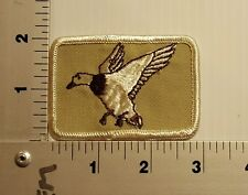 DUCK HUNTING (white)   VINTAGE EMBROIDERED PATCH