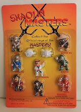 1 Blister Card, Kung Fu, Martial Arts, Shaolin Masters 8 figures + 2 Rings