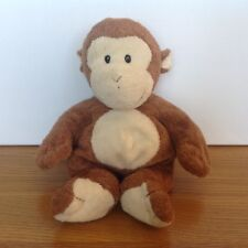 "TY Brown Monkey Soft Plush Beanie Comforter Toy 10"" Tall"