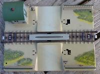 Märklin H0 Bastler Bahnübergang 7390 Metall Made in Western Germany /OVP Vau-pe