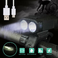 MTB Road Bike Front Light Bicycle 2 LED Lamp Headlight Bright for Night Riding