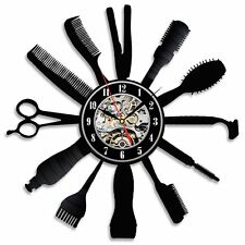 Barber Hair Salon  _Exclusive wall clock made of vinyl record_GIFT