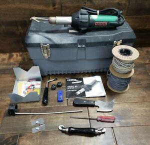 Leister Triac ST Hot Air Tool Heat Gun 141.228 w/ Case + Extras Pre-owned