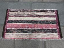 Vintage Fragment Traditional Hand Made Kilim Oriental Wool Pink Kilim 63x119m