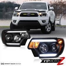 """For 12-15 Toyota Tacoma """"TRIBAL"""" Black LED Headlight TRD Pro X Runner Pre Runner"""