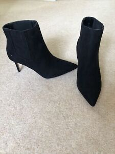 Brand New Black Heeled Ankle Boots From Lipsy Size 6