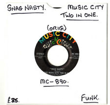 """""""RARE"""" FUNK.THE MUSIC CITY TWO IN ONE.SNAG NASTY / SILLY SONG.U.S ORIG 7"""".EX"""