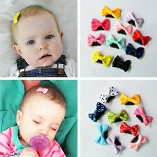 10pcs Wholesale Bowknot Kids Children Baby Girls Hairpin Hair Bow Clips Barrette