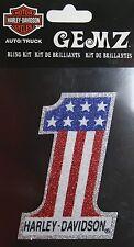 Harley Davidson bling decal cell phone motorcycle bike sticker dark 1 star strip