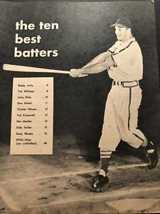 1955 Baseball Stars ST LOUIS Cardinals STAN MUSIAL Ted WILLIAMS Willie MAYS