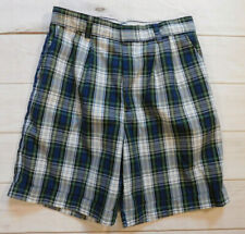Becky Thatcher Elderwear / Size 14 Shorts / Blue green Plaid School Uniform